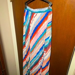 H&M striped maxi skirt used size 6